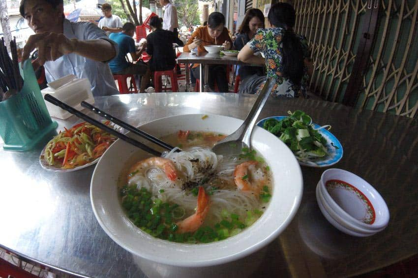 Ho Chi Minh City is famous for its pho, noodle soup.