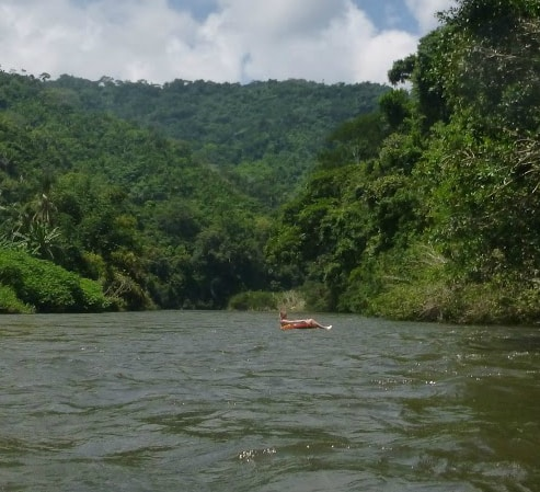 It's hard not to take a nap while tubing down the lazy Rio Palomino.