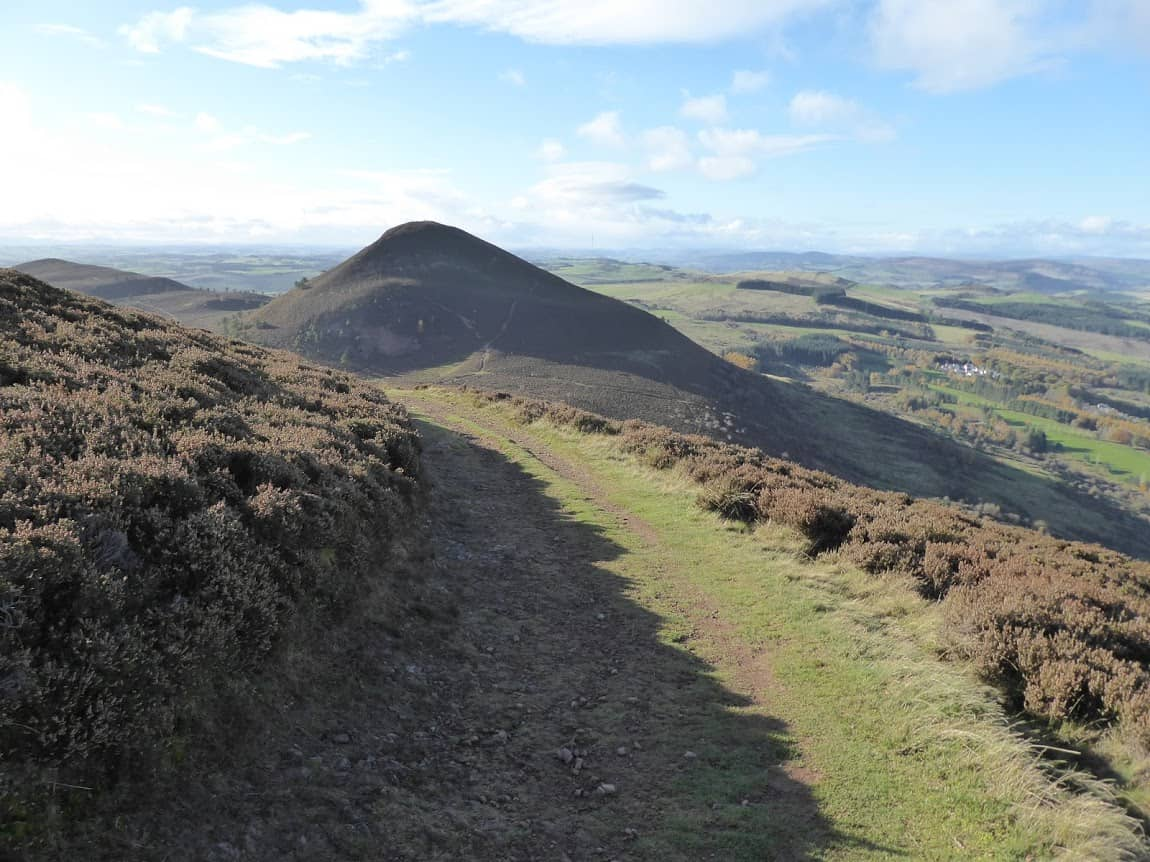 The Eildon Hills of Scotland.