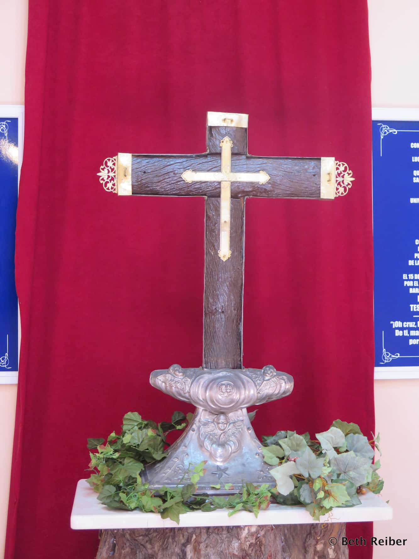 The only surviving of 29 crosses left by Christopher Columbus in Cuba