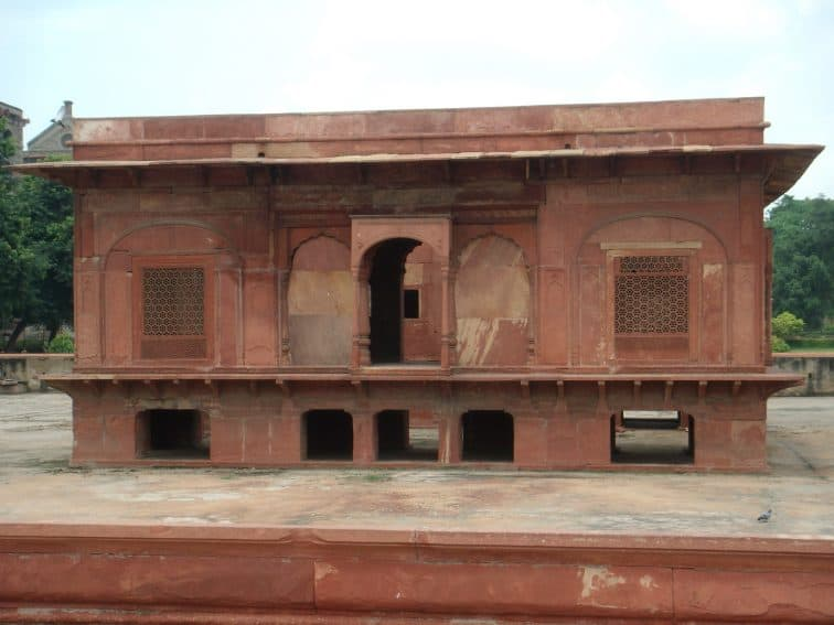 Zafar Mahal with its latticed windows in the Red Fort Complex