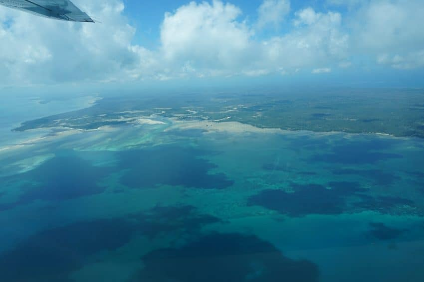 Flying over Mafia Island, Tanzania, a remote paradise for turtles, whales and a few people. Hattie Rowan photos.