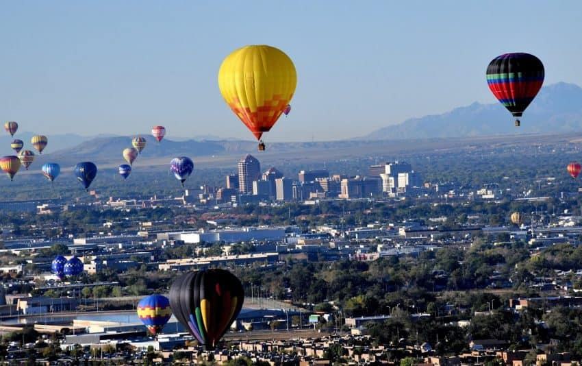 More than 850,000 people come to Albuquerque, NM each October to see balloons like this over the city. Tab Hauser photos.