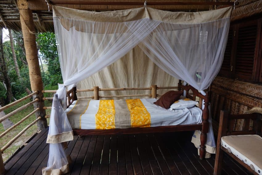 Beds come with mosquito netting.