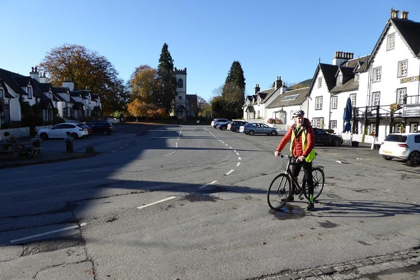 Biking in Kenmore, Scotland