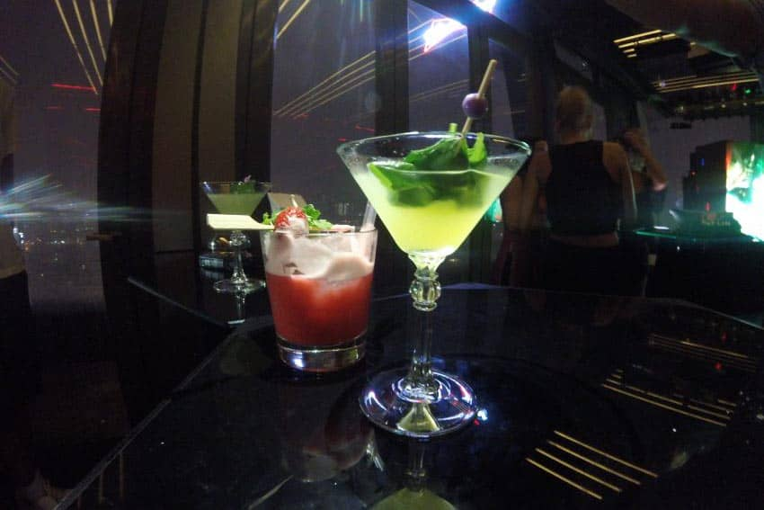 Cocktails at Chill Sky Bar Ho Chi Minh City.