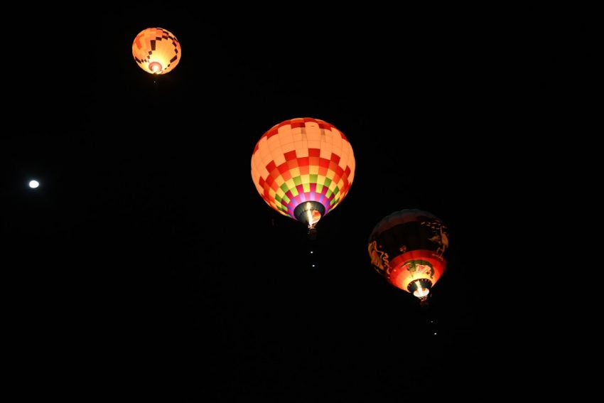 The balloons out before the sun rises are called the 'Dawn Patrol.'