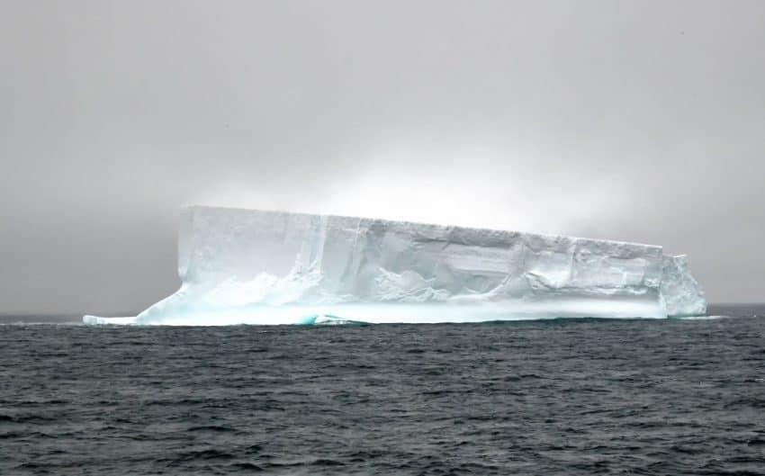An iceberg in the fog.