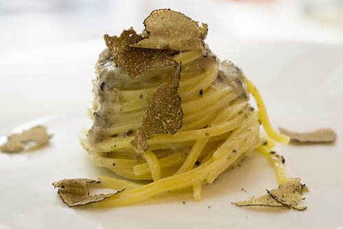 Pasta with a truffle sauce complemented with shaved truffles that have been freshly harvested, is a delicacy worth traveling to Umbria to partake in.