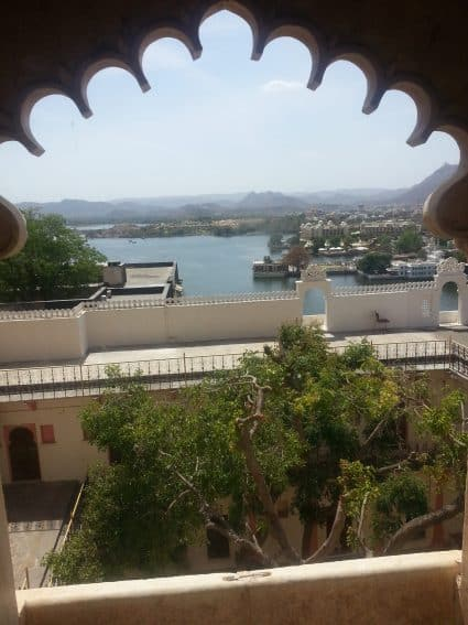Lake Pichola as seen from the fourth floor of the City Palace.