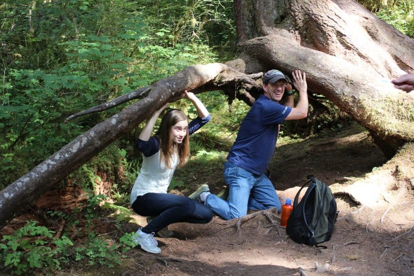 Having fun in the Hoh: A lush rainforest waiting to be explored in Washington. Wynne Crombie photos.