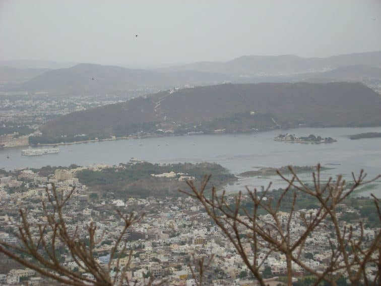 Views from Sajjangarh Palace, summer resort of the royal family in Udaipur.