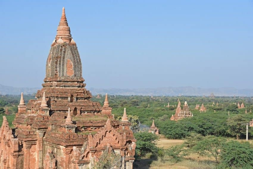 Bagan, Myanmar is full of beautiful temples. Mike Smith/Asiaphoto stock photos.