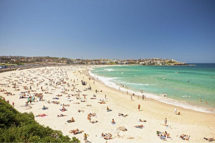 Bondi Beach attracts more visitors than any other beach in Sydney.
