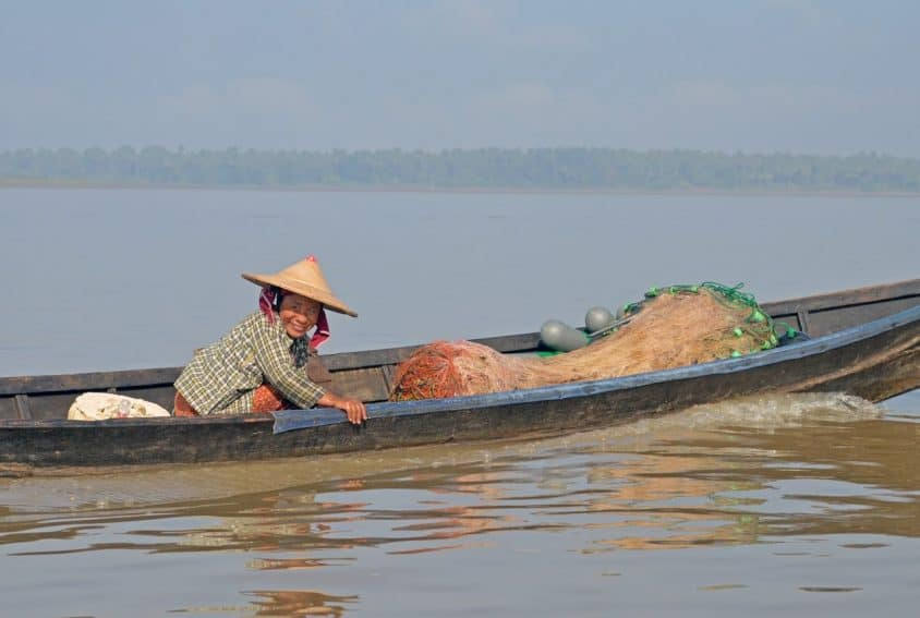 Fishing on Thanlyin River
