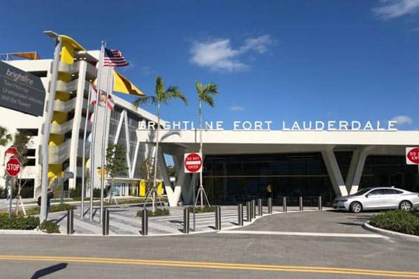 The Fort Lauderdale station of Brightline, Florida's newest high-speed passenger rail. Elizabeth