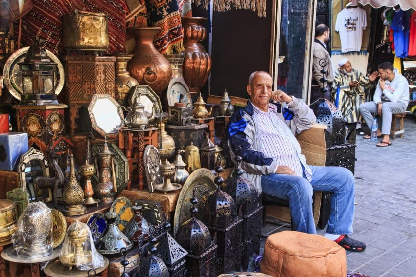 The sparkle of Casablanca is found in the souk.