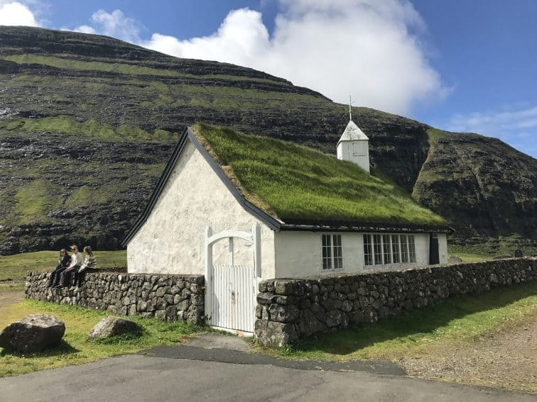 A church in Saksun, Faroe Islands, a remote archipelago in the north Atlantic.