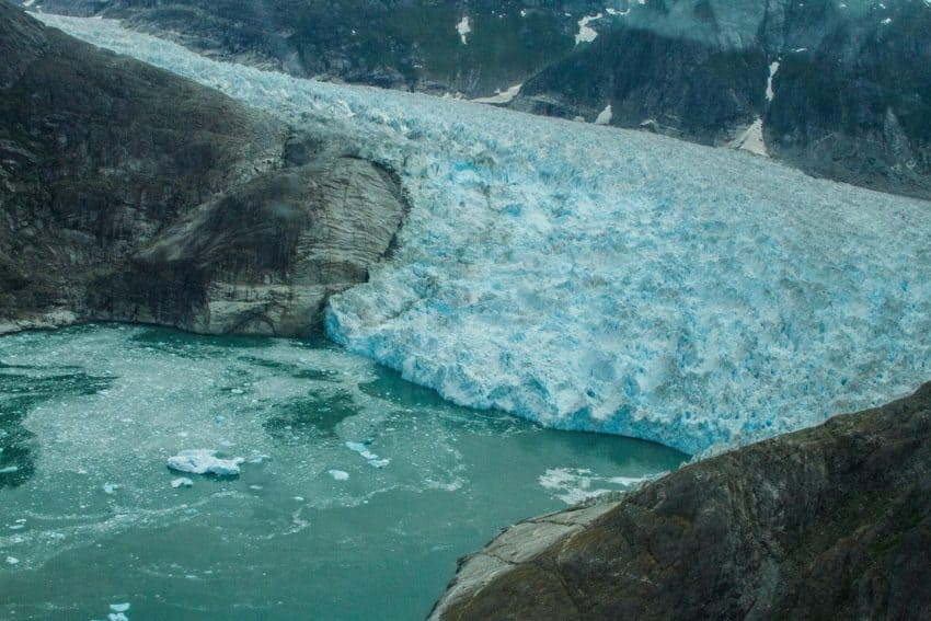 LeConte Glacier, Wrangell Alaska, from the air. Jessica Pickett photos.