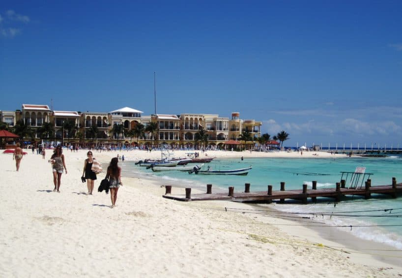 The glorious beach at Playa Del Carmen, Mexico. A benefit of retiring in Mexico is being able to drive there from America..