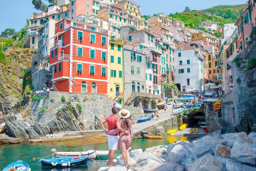 Riomaggiore is where the trip starts, taking in all five of the villages in Cinque Terre.