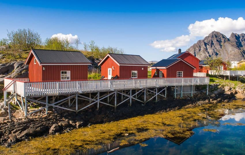 These cozy fishermen's cabins, called Rorbu Cabins, are a perfect place to bed down in Lofoten.