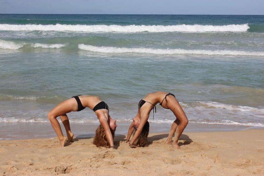 Having fun on the beach, Turks and Caicos.