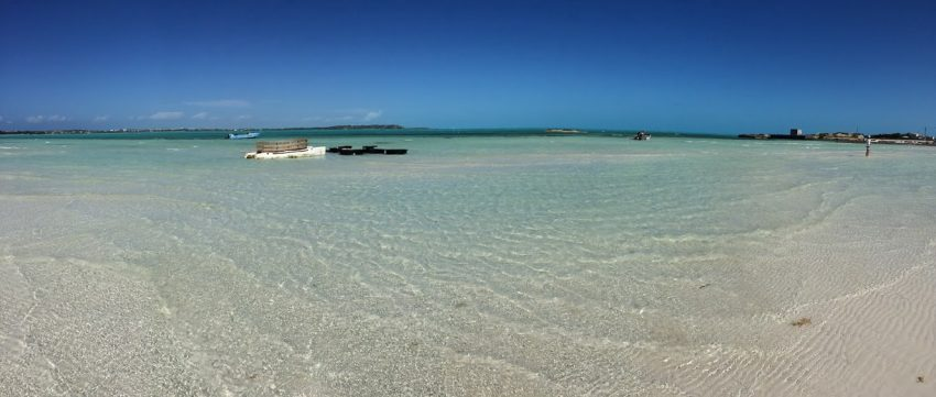 A tranquil beach in Providenciales.