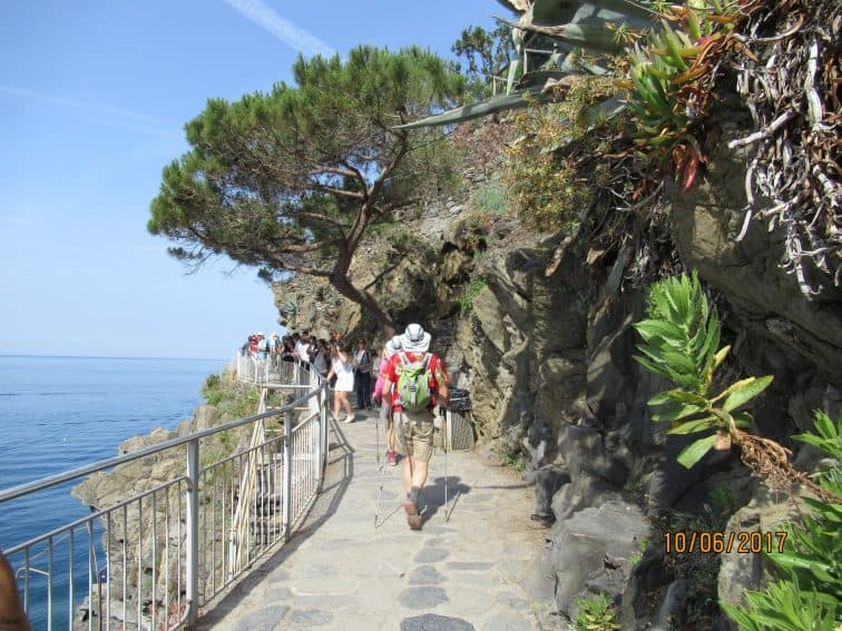 The small villages are connected by a series of pathways along the rocky shore of Tuscany.