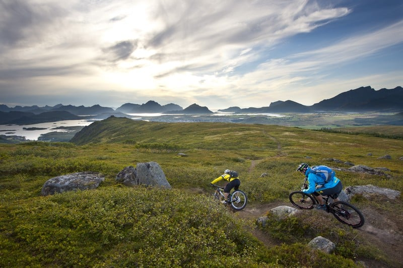 Hiking near Leknes, Lofoten Norway. Manfred Stromberg/Visit Norway photos.