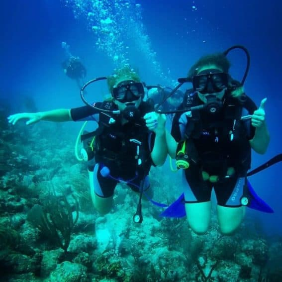 SCUBA divers having a great time in the blue waters of Hawaii. | GoNOMAD Travel