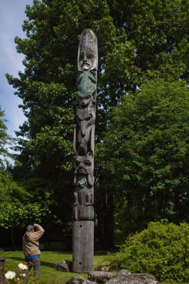 One of the many totems found throughout Wrangell.