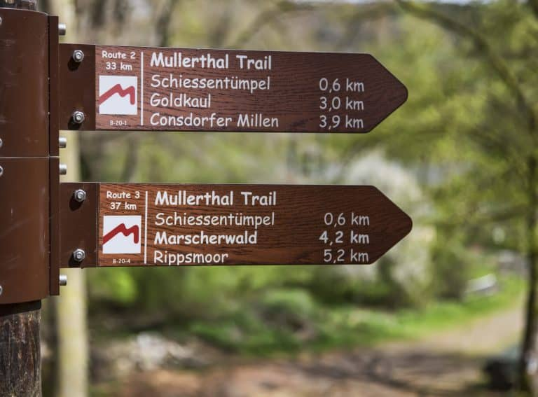 The routes are all well sign posted, so the chances of getting lost are zero.