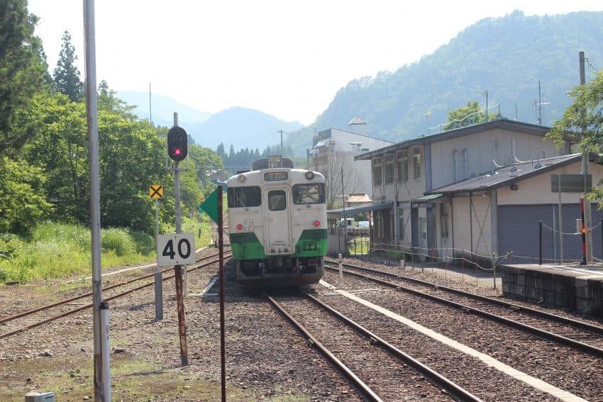 The local Fukushima train station.