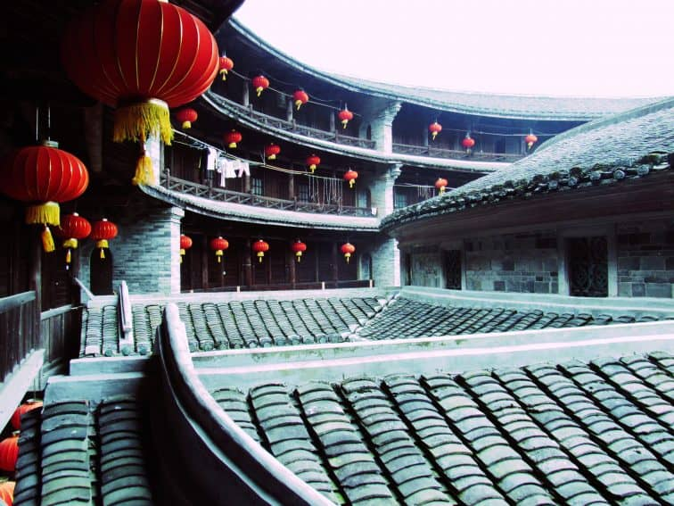 Inside the Zhencheng Lou.