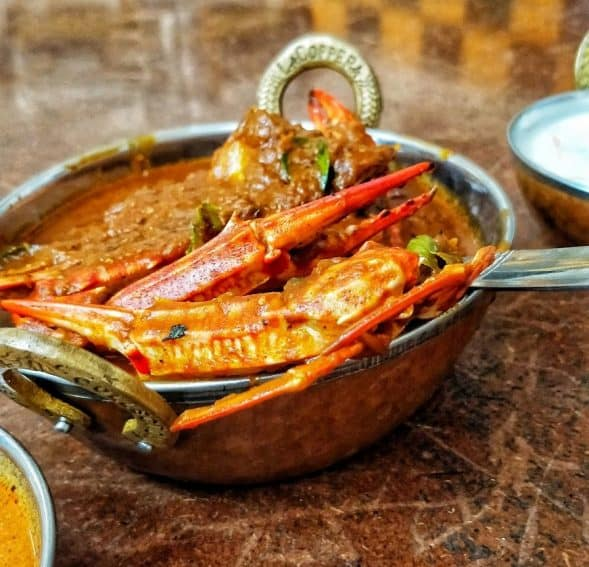 The Northern Peninsula is popular for its crab curry. It's punchy red and packed with flavors.