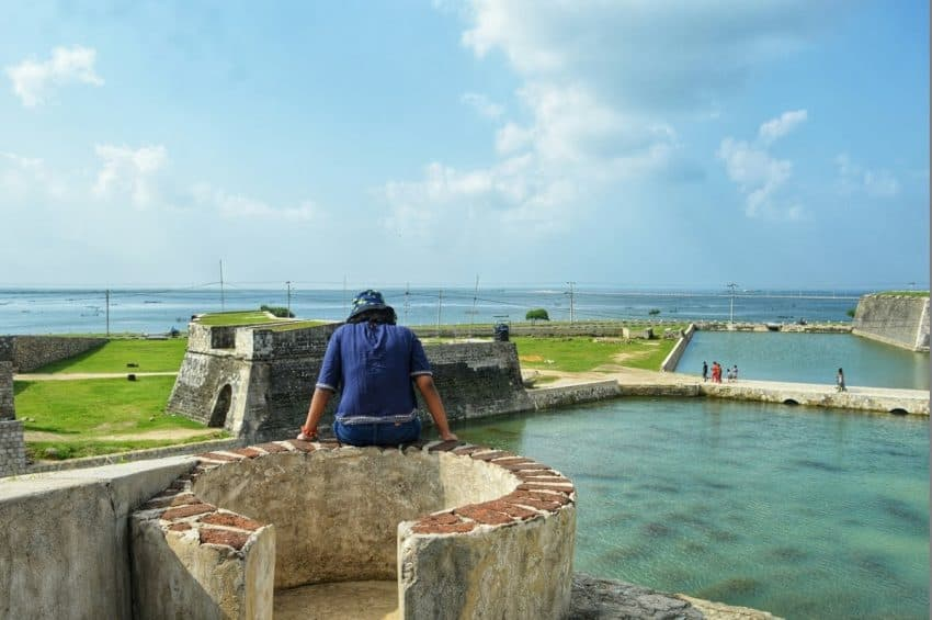 The view from the ramparts of Jaffna Fort in Sri Lanka. Zinara Rathnayake photos.