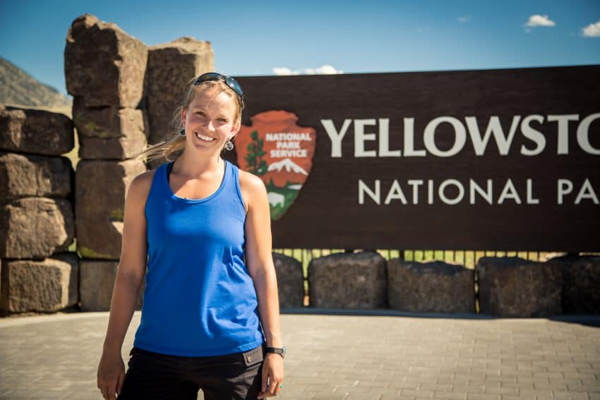 Kasey Austin, VP of Operations for Austin Adventures, at Yellowstone.