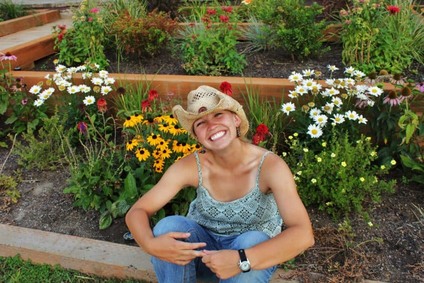 Kasey amidst the flowers in beautiful Montana.