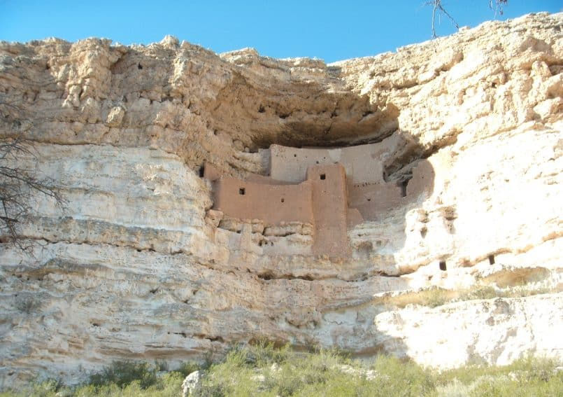 Montezuma Castle in the limestone cliffs.