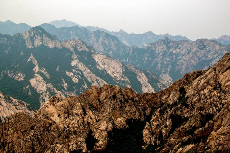 The rocky formations of Mount Kumgang, North Korea.