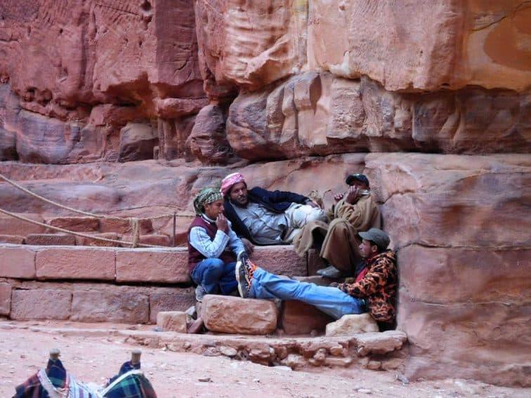 Petra Bedouin relaxing in the sun