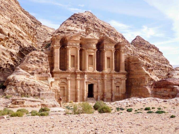 Petra, Jordan - Monastery (a 900 step climb on a mule). Elizabeth von Pier photos.