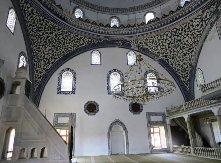 The interior of the Mustafa Pasha Mosque.