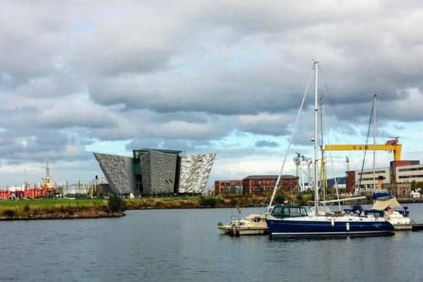The Titanic Project is a highlight of the renovated waterfront and former shipyards of Belfast.