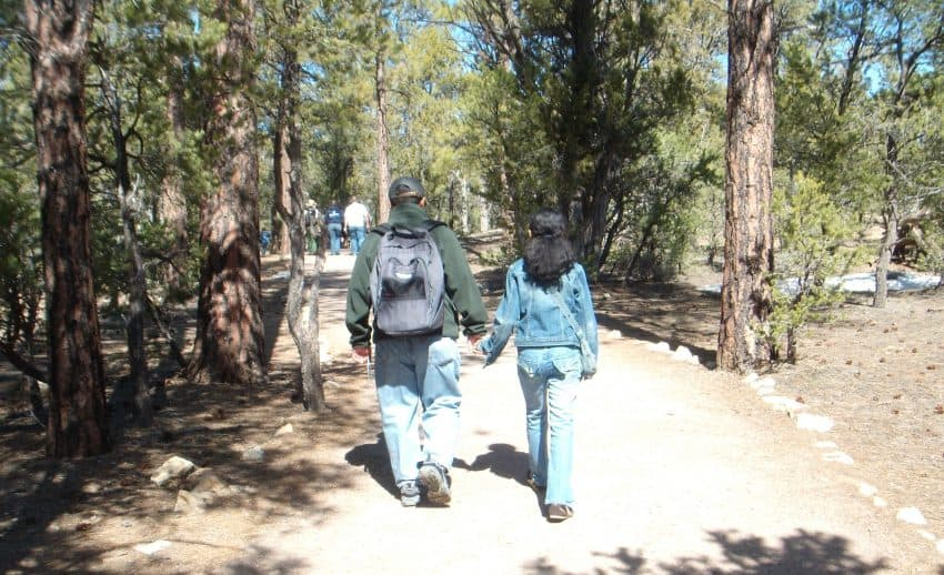Walking to the South Rim at the Grand Canyon