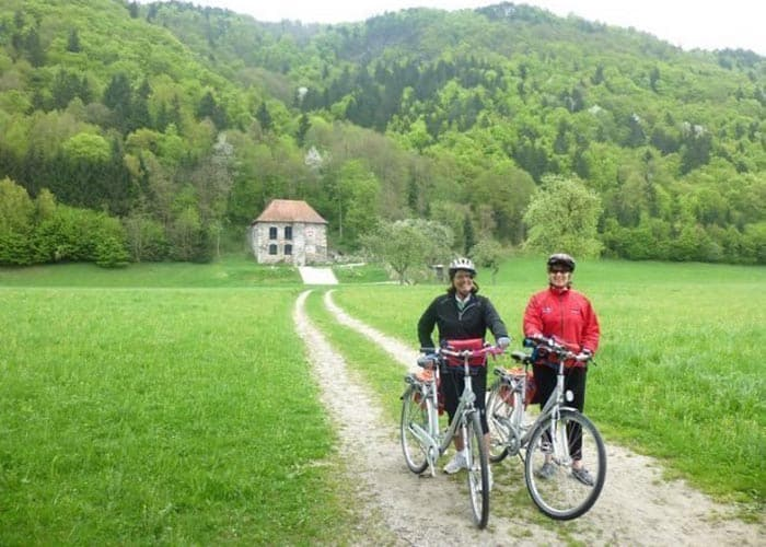 On most river cruise ships, they have bicycles that passengers can borrow to explore the countryside.