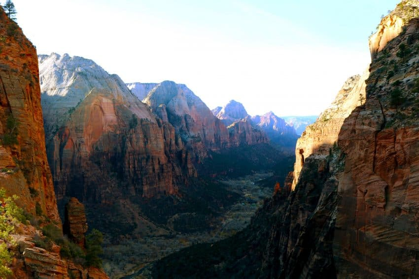 Views of Zion National Park from Angel's Landing. Laura Ferguson photos.