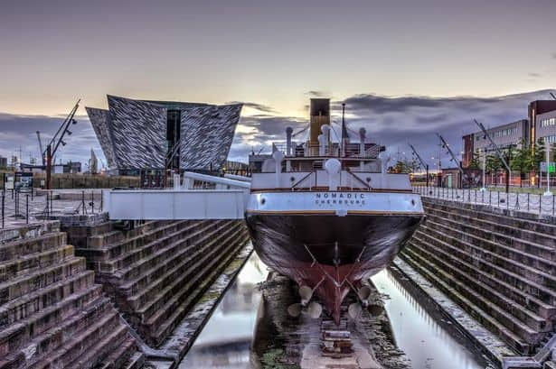 The SS Nomadic is a dramatic site at the Titanic Experience in Belfast.