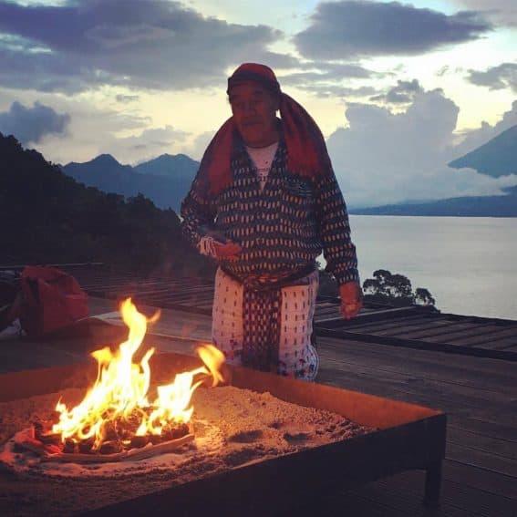 Mayan Shaman Blessing at Casa Palopo, Guatemala.